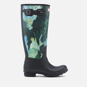 Hunter Women's Original Tall Botanical Print Wellies - Black
