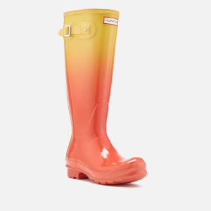 Hunter Women's Original Tall Colour Haze Wellies - Sunset/Hay: Image 2