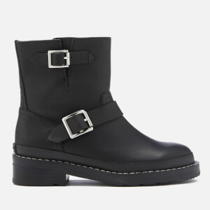Hunter Women's Original Leather Biker Boots - Black