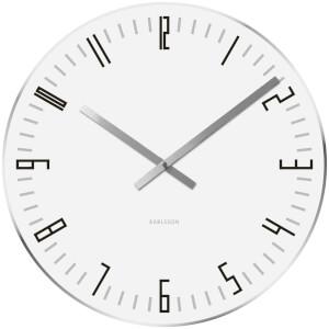 Karlsson Small Slim Index Mirror Edge Wall Clock - White