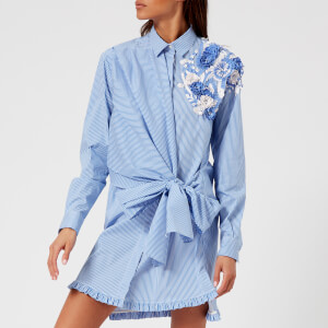 MSGM Women's Wrap Around Dress - Multi