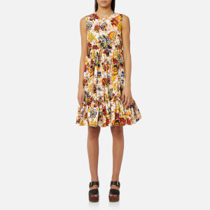 MSGM Women's Floral Midi Dress - Multi