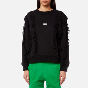 MSGM Women's Large Logo Sweatshirt - Black