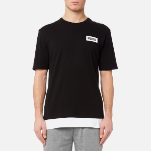 Puma Men's Rebel Short Sleeve T-Shirt - Black