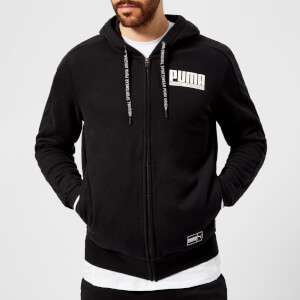Puma Men's Style Athletics Full Zip Hoody - Cotton Black