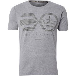 T-Shirt Homme Crisscross Crosshatch - Gris Clair Chiné