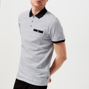 Ted Baker Men's Sloughi Geo Print Polo Shirt - Navy