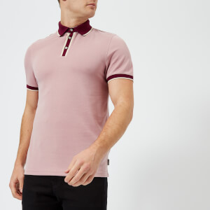 Ted Baker Men's Howl Knitted Collar Polo Shirt - Pink