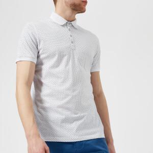 Ted Baker Men's Boxer Geo Print Polo Shirt - White