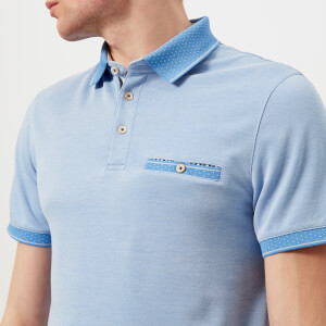 Ted Baker Men's Cagey Soft Touch Polo Shirt - Bright Blue