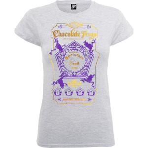 T-Shirt Harry Potter Honeydukes Purple Chocolate Frogs Grey - Donna