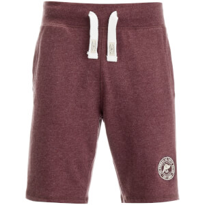 Tokyo Laundry Men's Red Feather Sweat Shorts - Bordeaux Marl