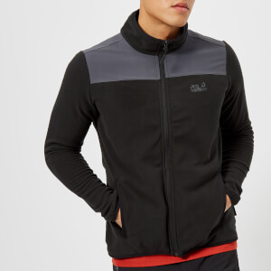 Jack Wolfskin Men's Performance Flex Fleece Jacket - Black
