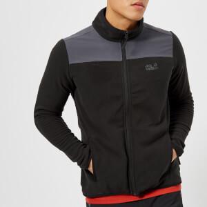 Jack Wolfskin Men's Performance Flex Fleece Jacket - Black