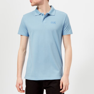 Jack Wolfskin Men's Pique Polo Shirt - Cool Water