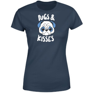 Pugs & Kisses Women's T-Shirt - Navy