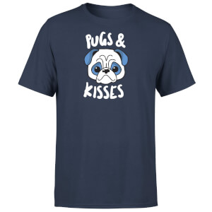 Pugs & Kisses T-Shirt - Navy