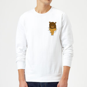 Christmas Bear Pocket Sweatshirt - White