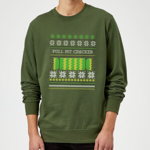 Pull My Cracker Sweatshirt - Forest Green