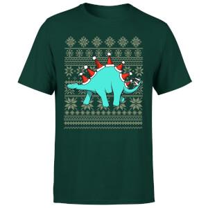 """Camiseta Navidad """"Stegosanta"""" - Hombre - Verde oscuro"""