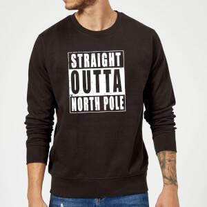 Straight Outta North Pole Kersttrui - Zwart