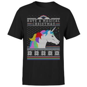 Have a magical Christmas Fair isle T-Shirt - Black