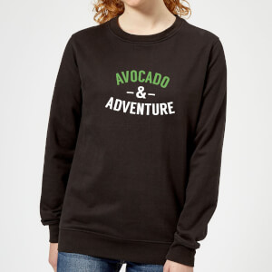 Avocado and Adventure Women's Sweatshirt - Black