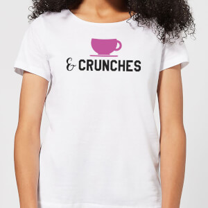 Coffee and Crunches Women's T-Shirt - White