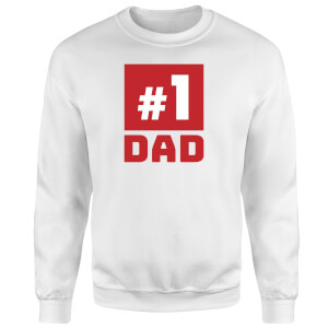 Number 1 Dad Sweatshirt - White