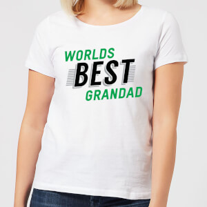 Worlds Best Grandad Women's T-Shirt - White