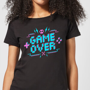 Game Over Gaming Women's T-Shirt - Black