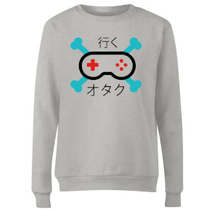 Skull and Cross Bones Controller Women's Sweatshirt - Grey