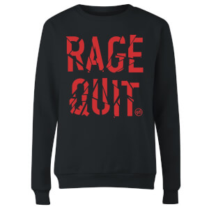 Rage Quit Women's Sweatshirt - Black