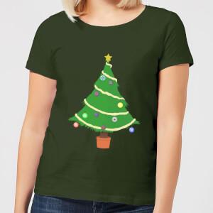 Buttons Tree Women's T-Shirt - Forest Green