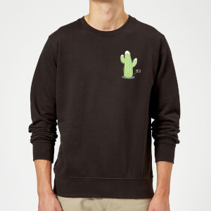 Cactus Fairy Lights Sweatshirt - Black