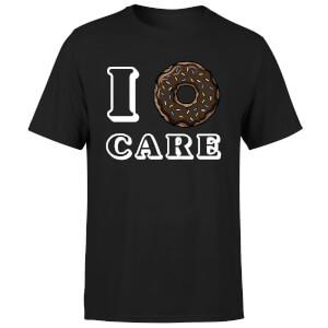 I Donut Care T-Shirt - Black
