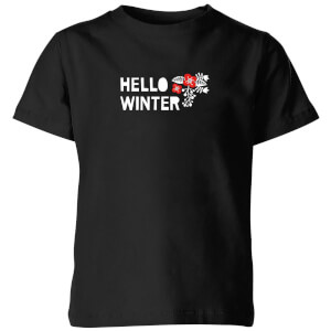 Hello Winter Kids' T-Shirt - Black