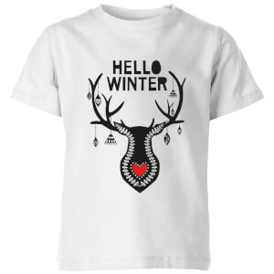 Hello Winter Kids' T-Shirt - White