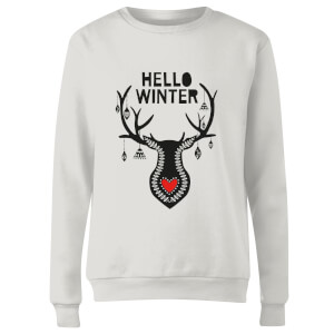Hello Winter Women's Sweatshirt - White