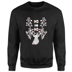 Ho Ho Ho Sweatshirt - Black