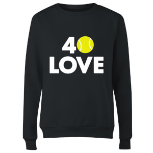 40 Love Women's Sweatshirt - Black