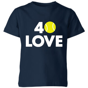 40 Love Kids' T-Shirt - Navy