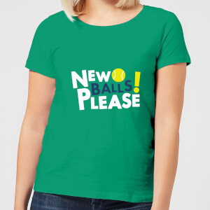 New Balls Please Women's T-Shirt - Kelly Green