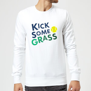 Kick Some Grass Sweatshirt - White