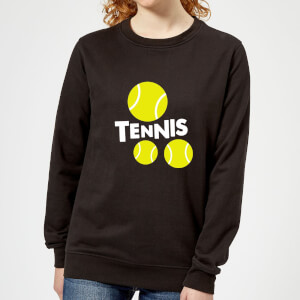 Tennis Balls Women's Sweatshirt - Black