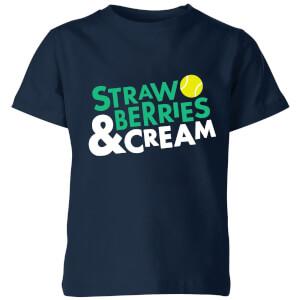 Strawberries and Cream Kids' T-Shirt - Navy
