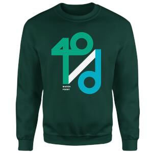 40 / d Match Point Sweatshirt - Forest Green