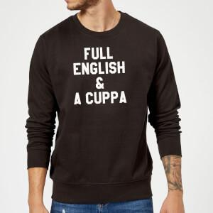 Full English and a Cuppa Sweatshirt - Black