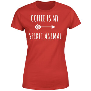 Coffee is my Spirit Animal Women's T-Shirt - Red