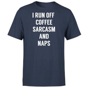 I Run Off Coffee Sarcasm and Naps T-Shirt - Navy
